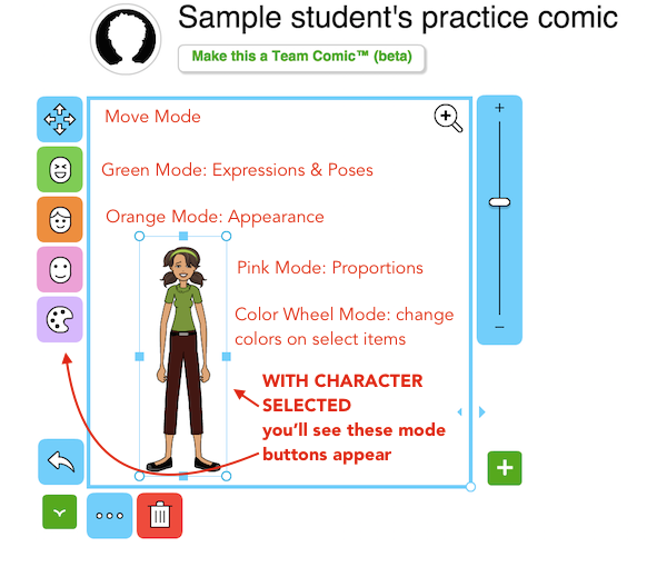 Pixton-select-character-modes