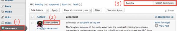 Classblog view comments