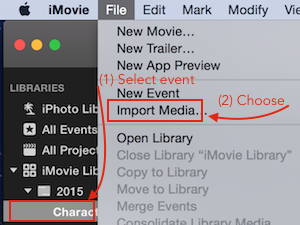 iMovie13-import-media-menu