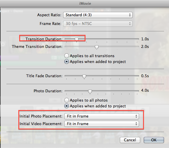 QUICK TIPS – New Project Settings & Project Properties in