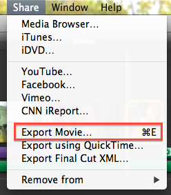 HOW TO – Export a Web-Ready Video from iMovie '11 | Digital Writing 101