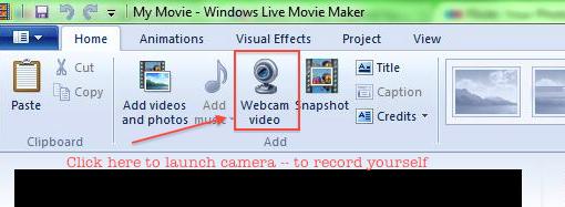 Moviemaker launch camera