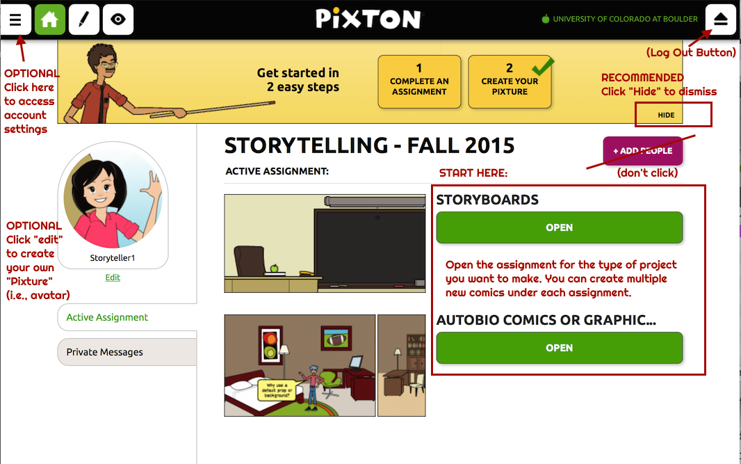 pixton-for-schools-story-classroom-home-page