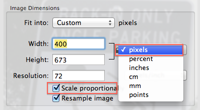 Preview change to pixels
