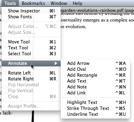 Preview tools dropdown