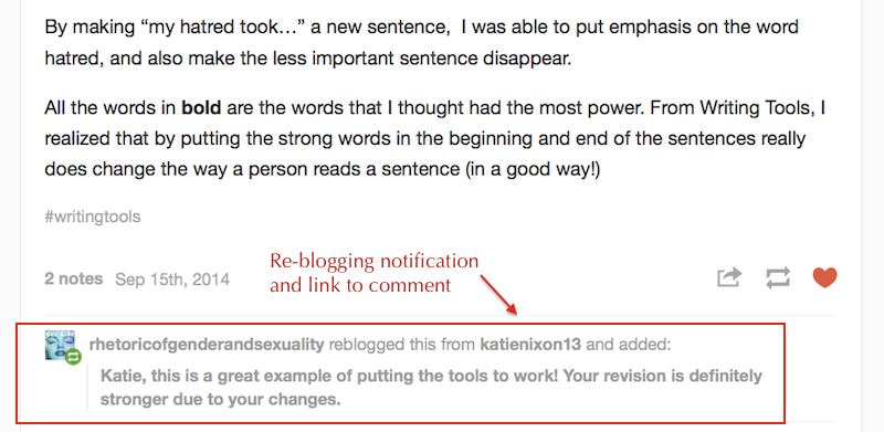 HOW TO – Re-blog on Tumblr | Digital Writing 101