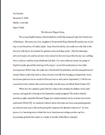 normal font size for essay