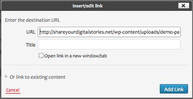 Wp paste URL